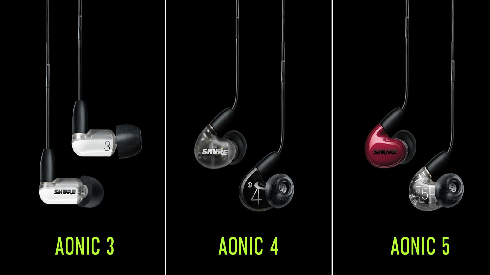 Shure Expands AONIC Listening Line, Providing A New Suite Of Headphones And Earphones