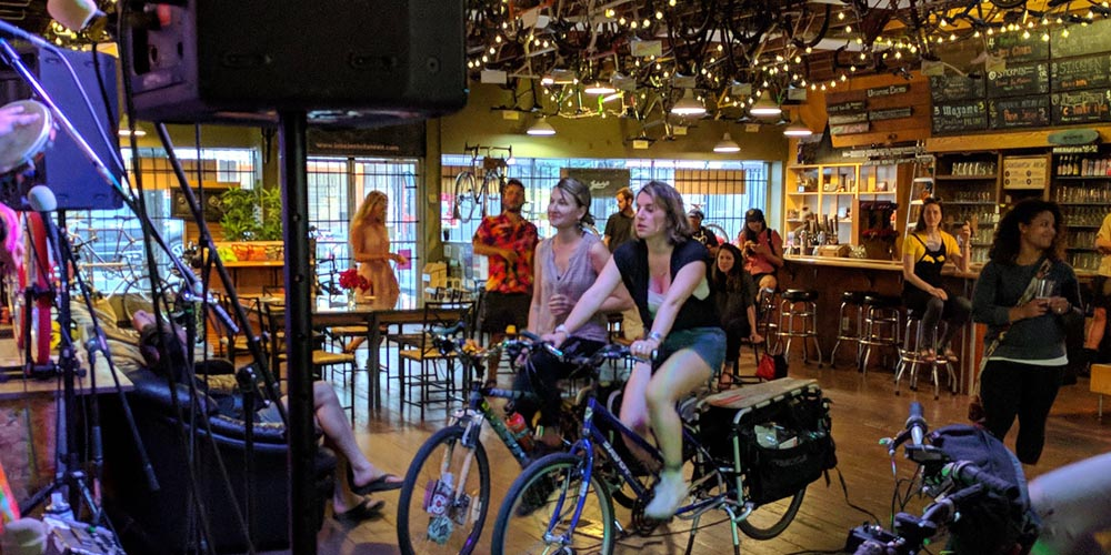 Biketopia Promotes Pedal Power for the Planet – and Live Music