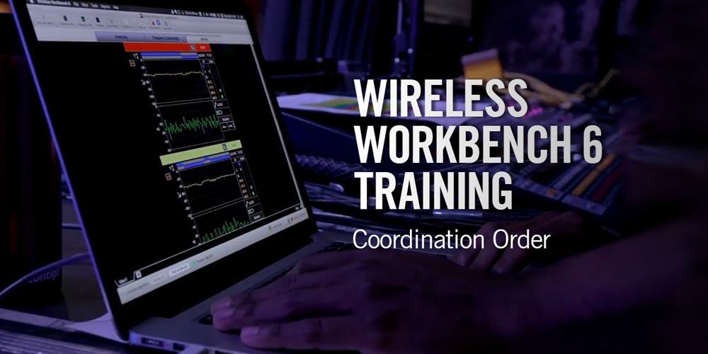 Shure Wireless Workbench 6: Coordination Order