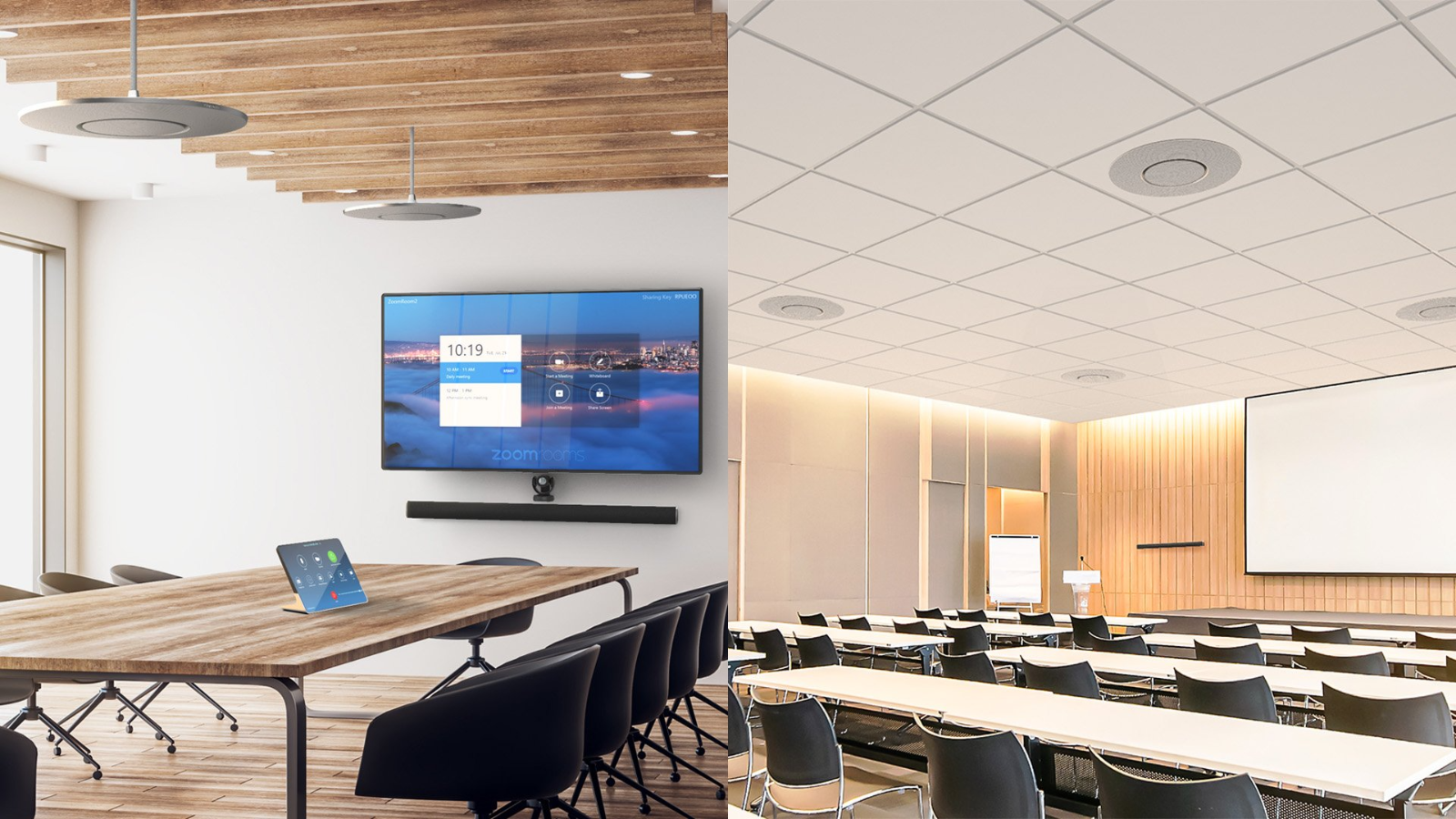 Unifica todo el audio de la sala de conferencias con una sola solución