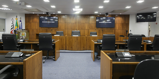 Enfoque en la democracia y la transparencia. La Cámara Municial de Itatiba con Shure.