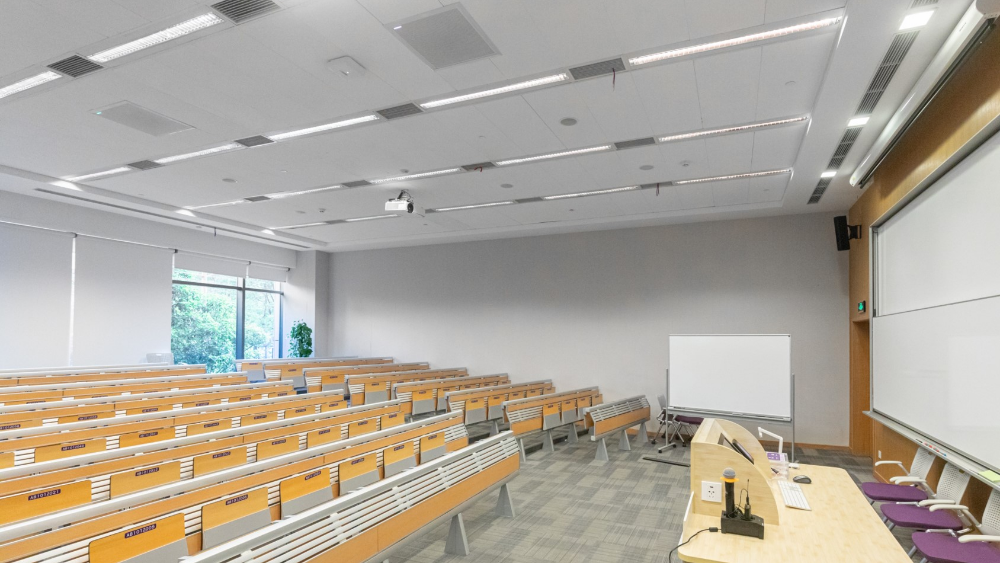 NYU Shanghai Lecture Hall with MXA910 and ULX-D
