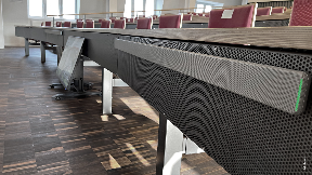 Hybrid lectures without restrictions - Shure MXA710 & MXA910 at Bucerius Law School Hamburg