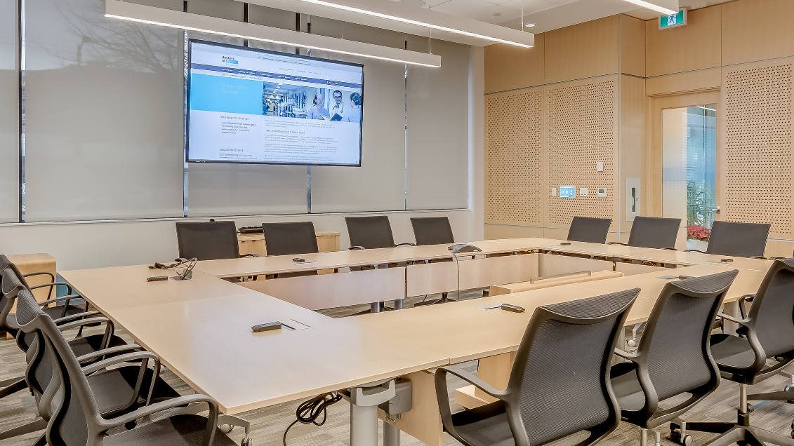 IHB Systems prescribes Shure Microflex Wireless microphone network for Doctors of BC headquarters in Vancouver