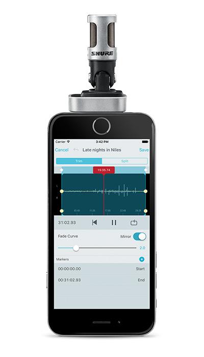 MV88 recording with MOTIV App