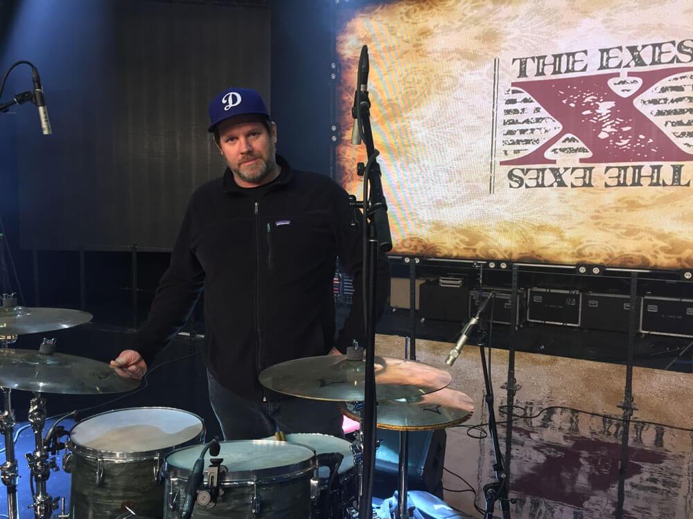 Danny Rowe behind a drum set