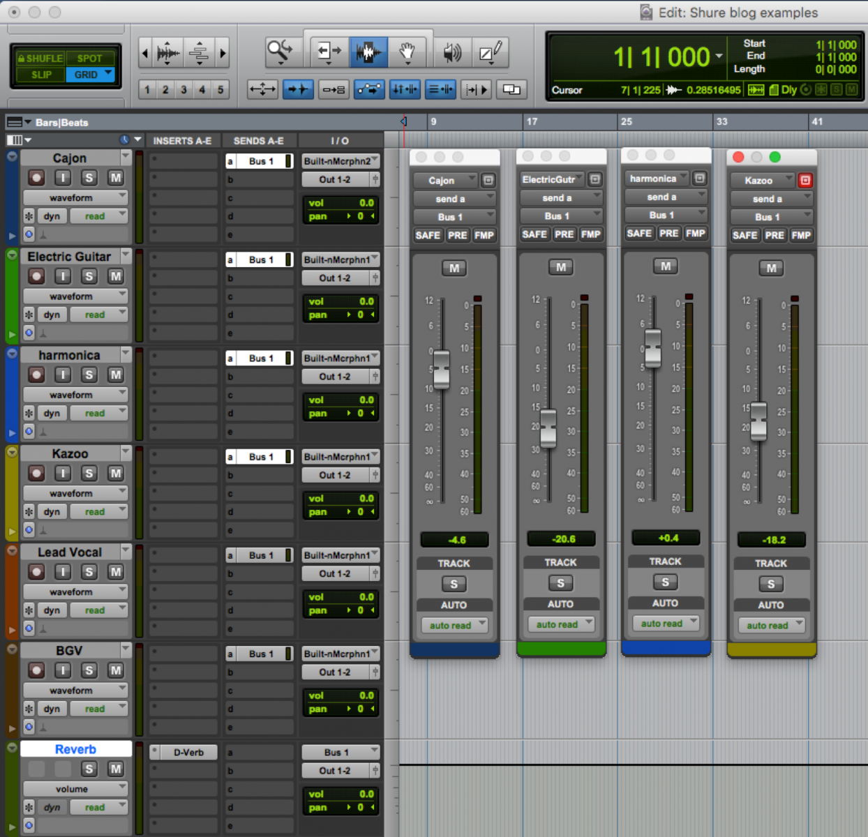 Mixing Example Showing How to Bus