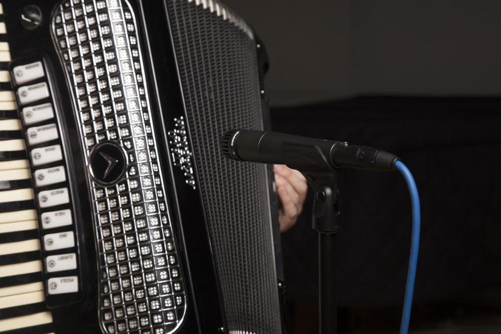 Shure SM57 Instrument Mic on Accordion