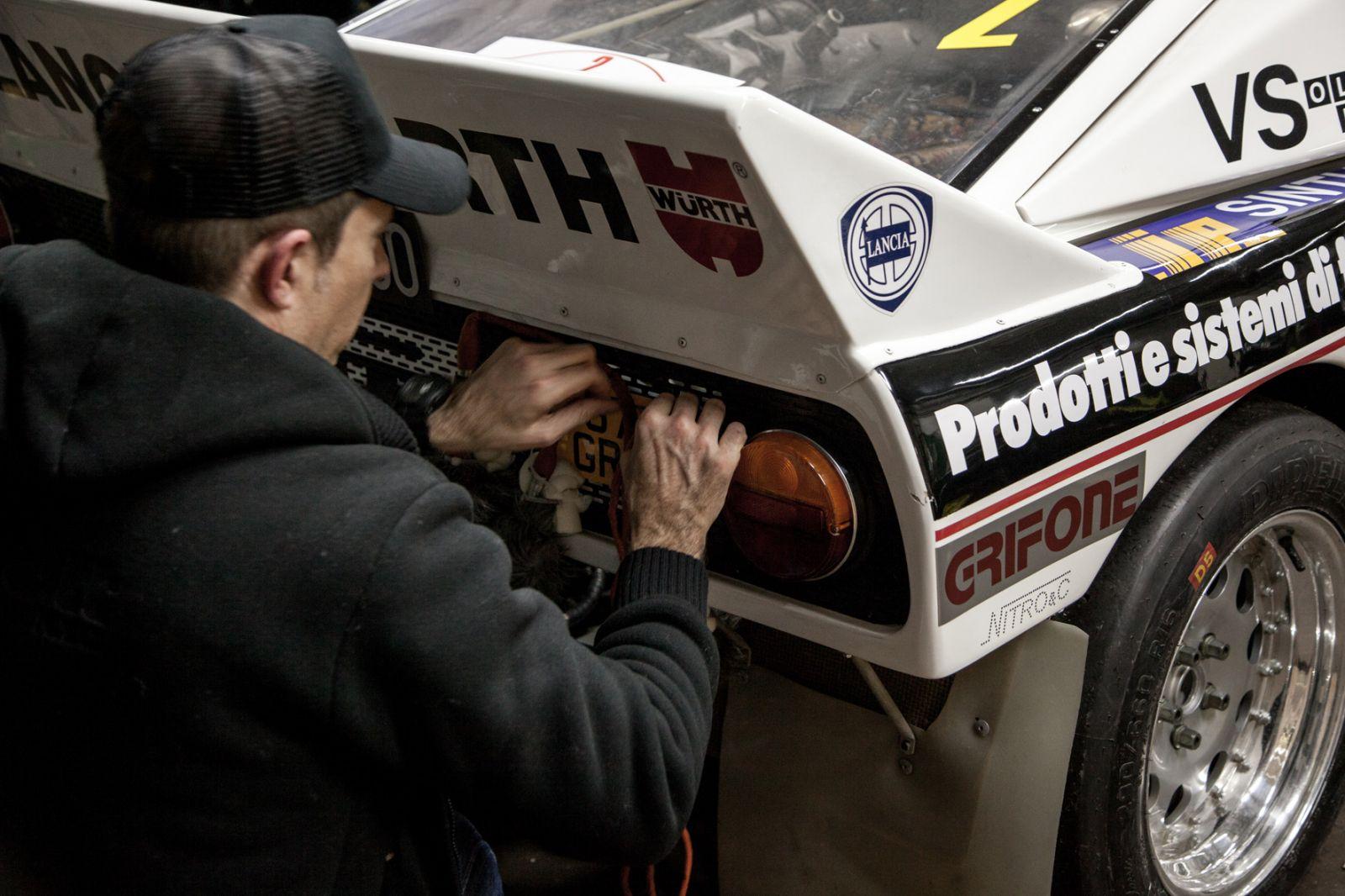 Chris Jojo with race car