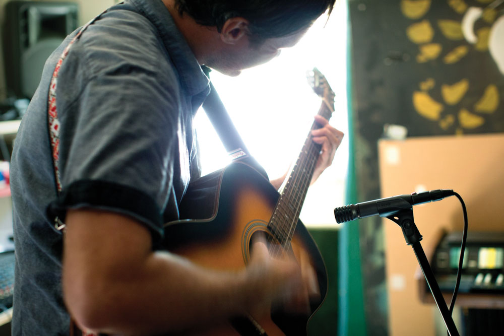 Guitarist Rehearsing with PG Alta Microphone