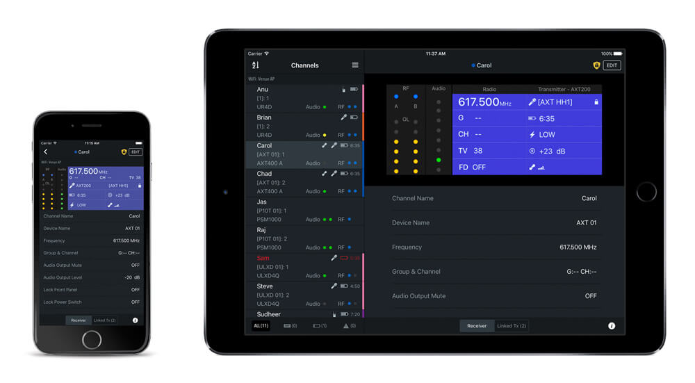 ShurePlus Channels 1.3 on iPhone and iPad