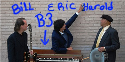 Eric Michaels Organ Trio – that's Eric in the middle