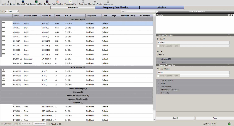 WWB Inventory tab