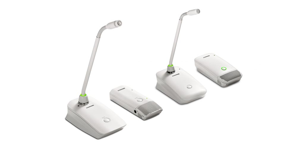 Shure Releases White Configurations Of The Microflex® Wireless (MXW) And ULX-D® Digital Wireless Boundary And Gooseneck Transmitters